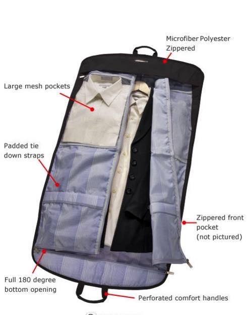 7cd67e9863 Essentials   Deluxe Garment Carrier - Black   Ricardo Beverly Hills by Ricardo  Beverly Hills Luggage (1245-BLACK)