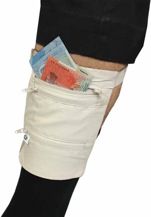Leg Safe Pouch Document And Money Storage By Travel