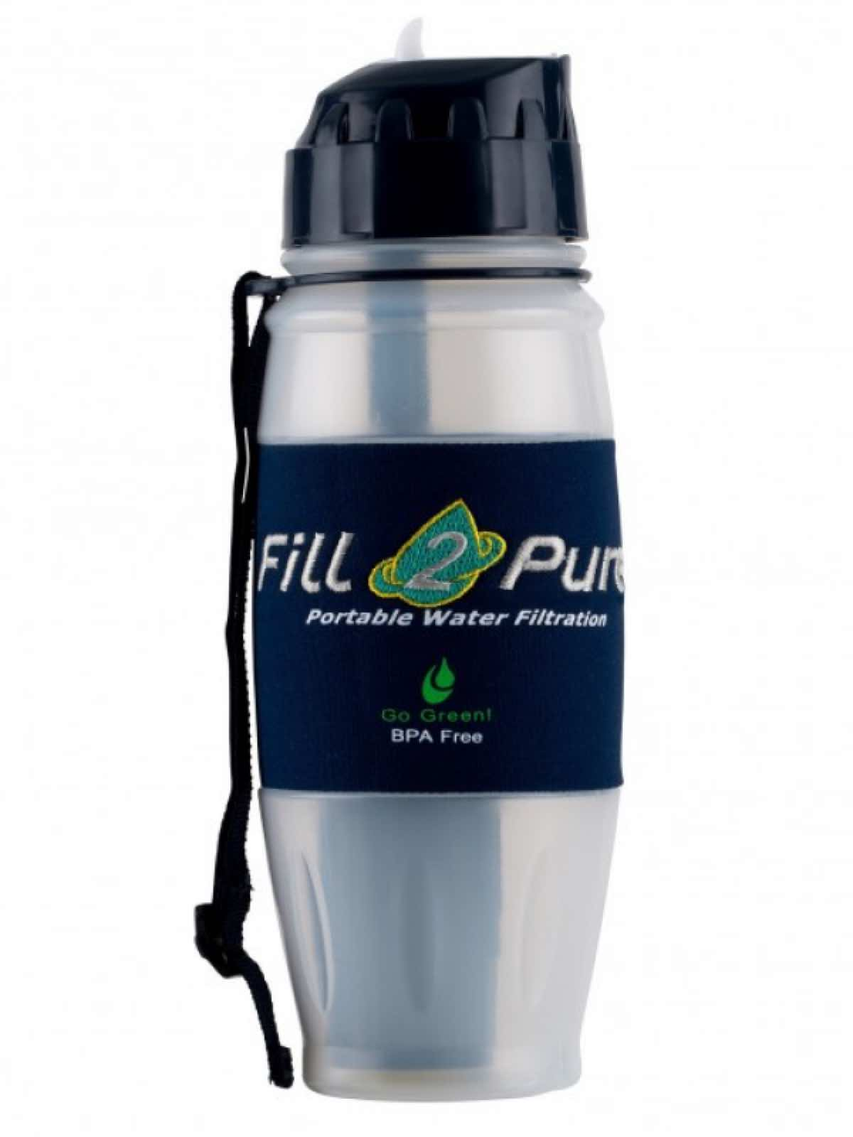 Advanced Travel Safe Water Bottle 800ml Fill2pure By