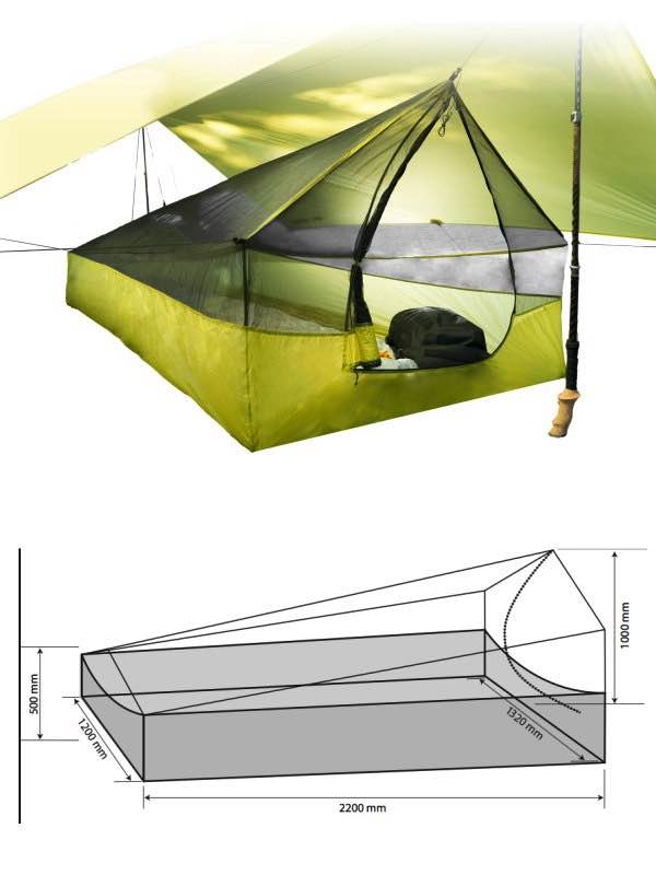Dimensions  Escapist Ultra-Mesh Bug Tent (Please note  Accessories and Escapist Tarp not included)  sc 1 st  Travel Universe & Escapist Ultra-Mesh Bug Tent : Sea to Summit by Sea to Summit ...