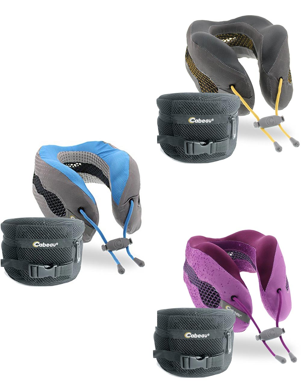 Evolution Cool Memory Foam Travel Pillow With Earplugs