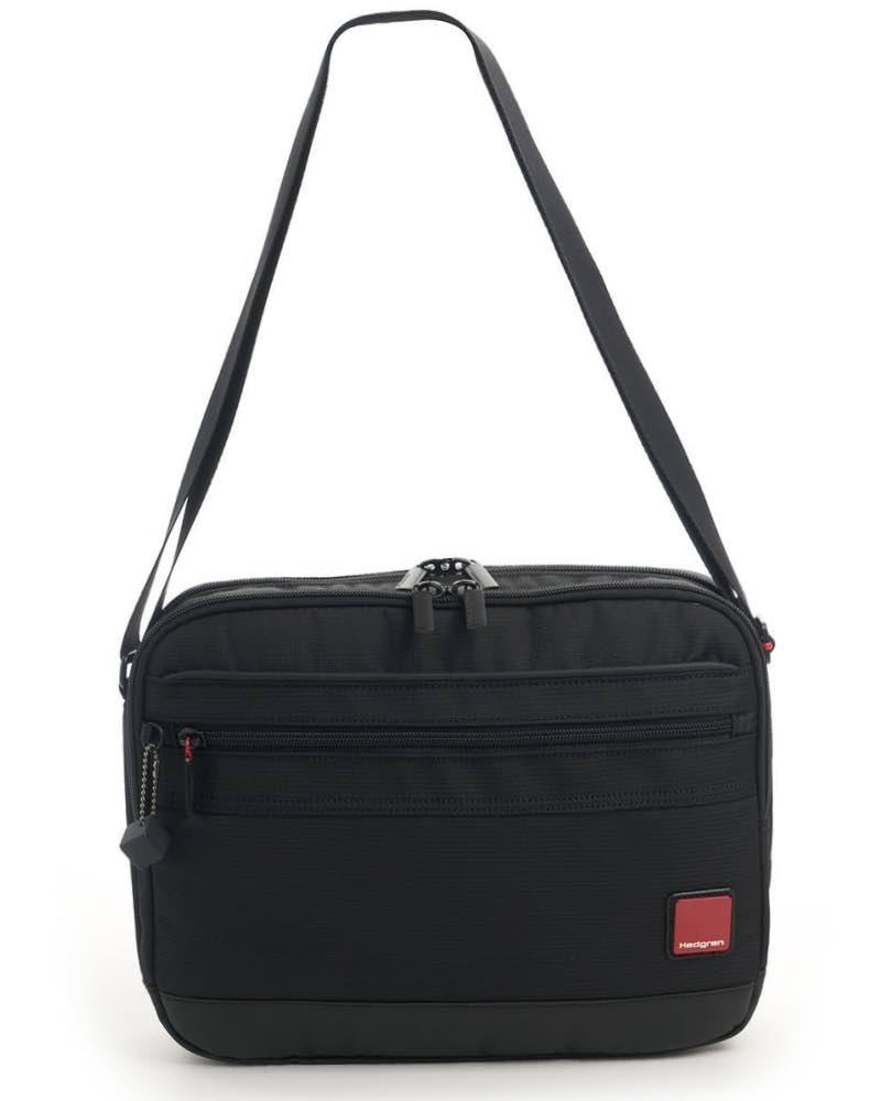 6187ab825 Hedgren WING Men's Horizontal Shoulder Bag with Tablet Pocket - Black by  Hedgren (HRDT08.003)