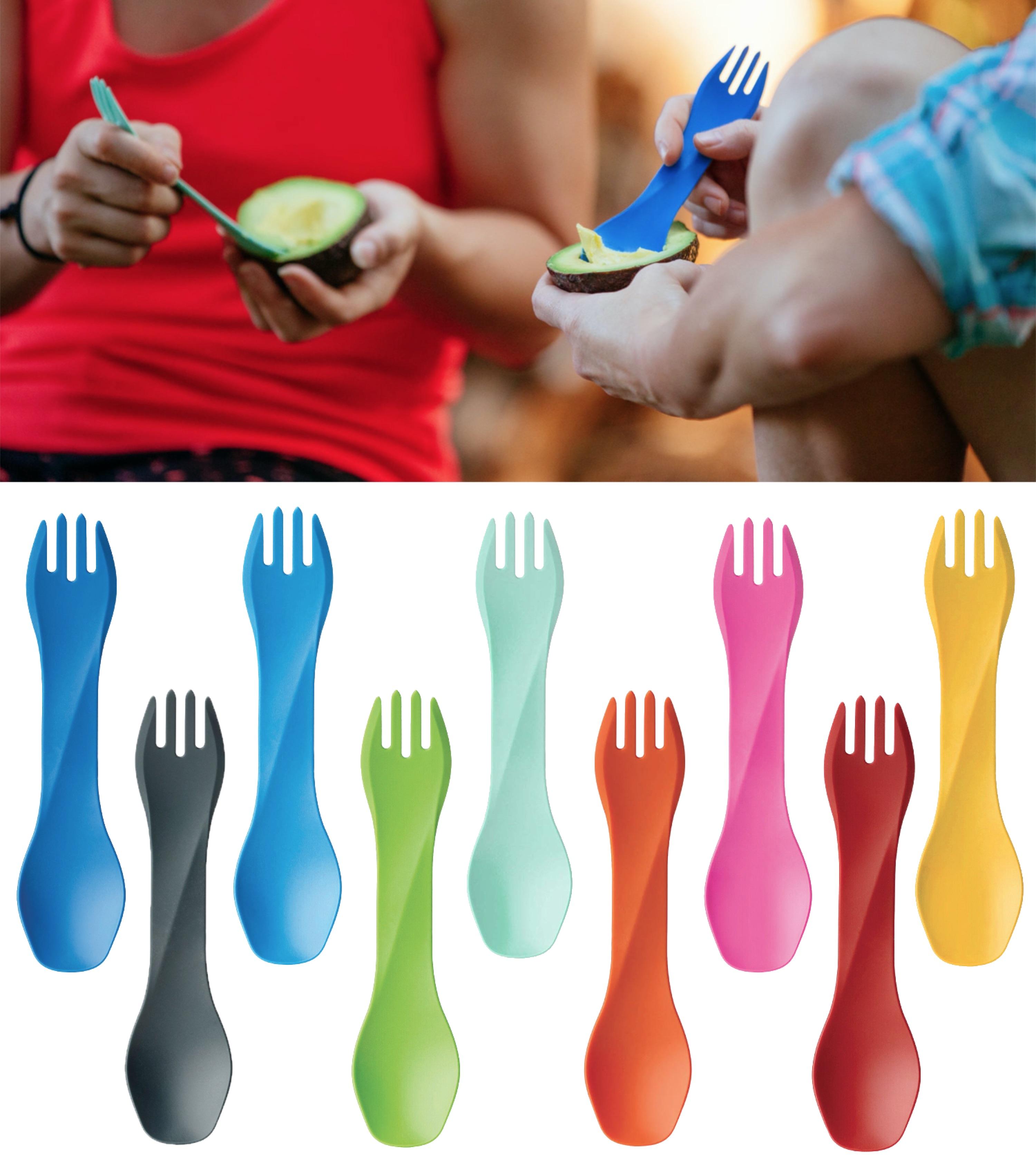 Human Gear GoBites Uno Mini Spoon//Fork Combo Utensil Gray Sturdy BPA-Free Nylon