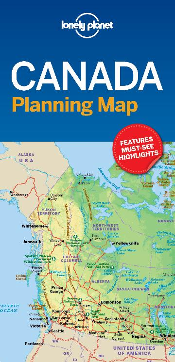 Easy Map Of Canada.Lonely Planet Canada Planning Map