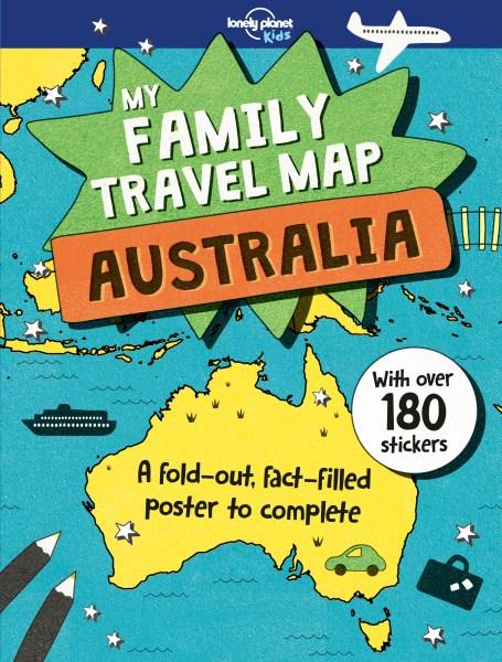 Map Of The Australia.Lonely Planet My Family Travel Map Australia By Lonely Planet