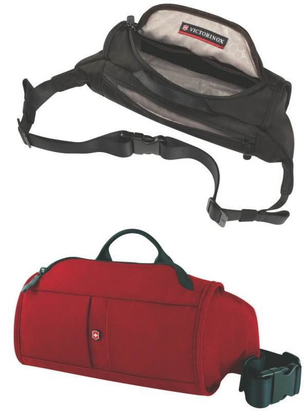 One Size Red//Red Logo Victorinox Lumbar Pack with RFID Protection