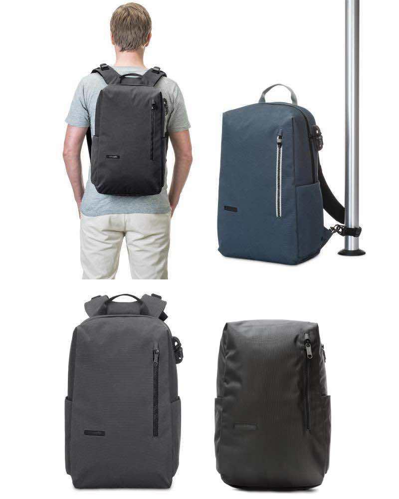 Navy Tasche Backpack Blue Intasafe Rucksäcke Pacsafe Tote N8wkXnPZO0