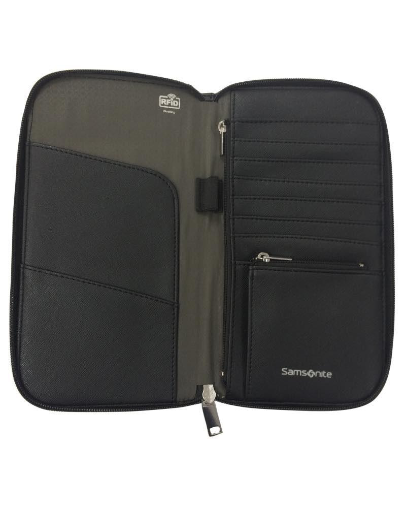 Samsonite Rfid Blocking Passport Wallet Black By Samsonite