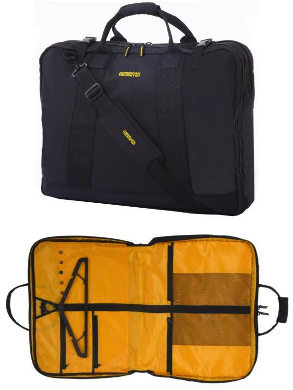 23c58320522b American Tourister Smart Garment Bag - Black Yellow by American ...