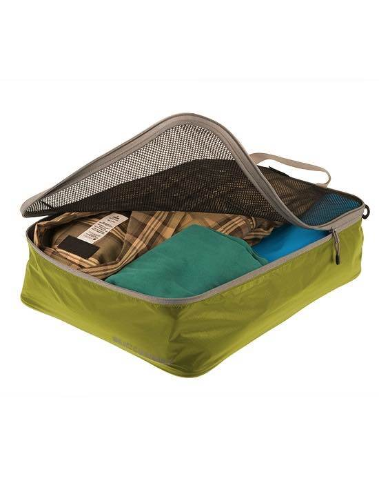 Lightweight Travel Garment Mesh Bag / Packing Cube : Medium - Lime : Sea to Summit
