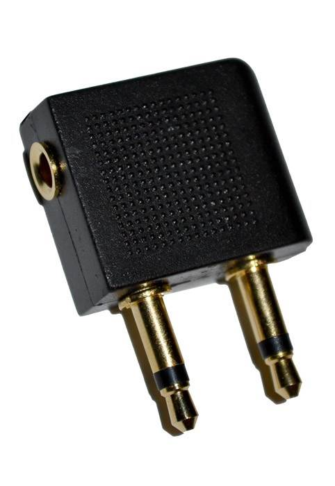 Airline / Airplane Headphone Adaptor Plug : Gold Plated