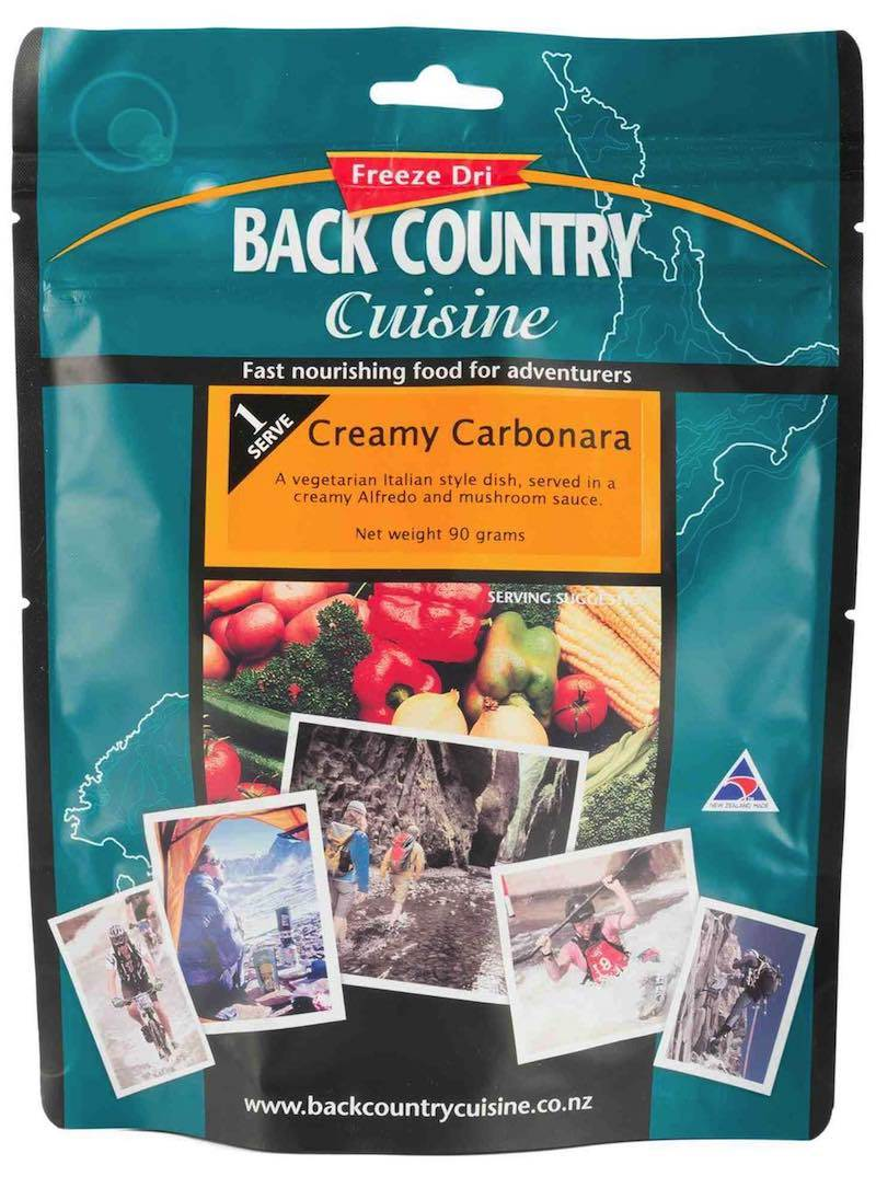 Back Country Cuisine : Creamy Carbonara  - Single Serving