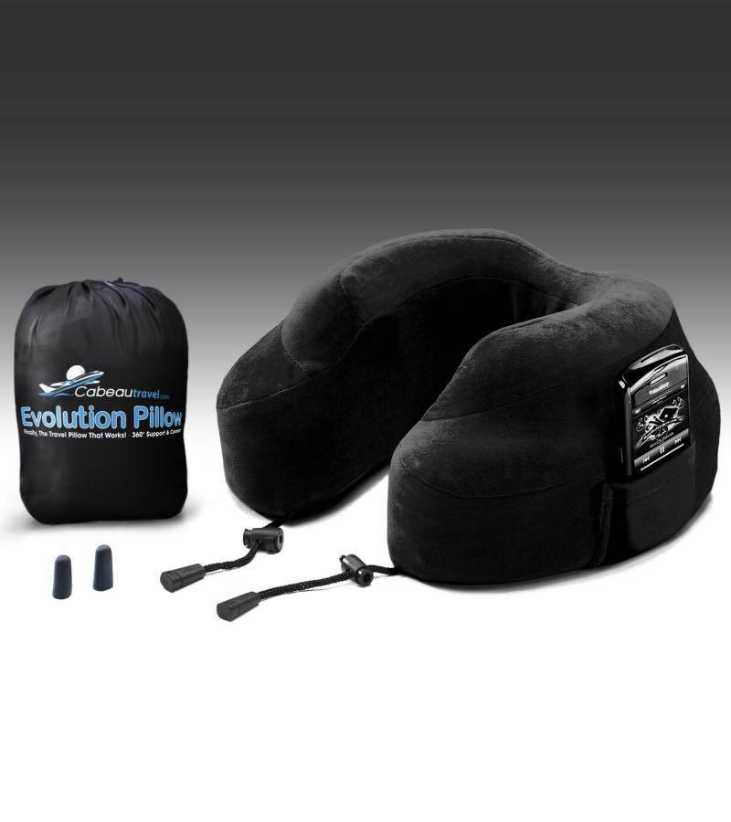 Evolution Pillow : Memory Foam (with Ear Plugs) : Black : Cabeau