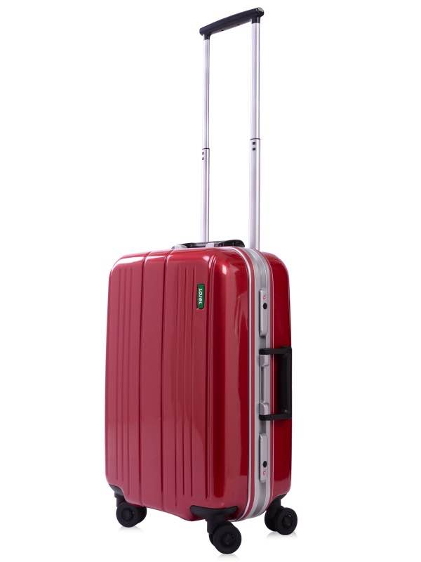 55cm Carry-On : Superlative Frame : Burgundy : 4 Wheel : Lojel
