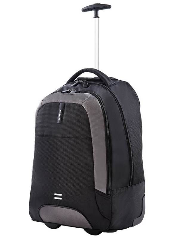 Albi : Laptop Backpack with Wheels - Black : Samsonite