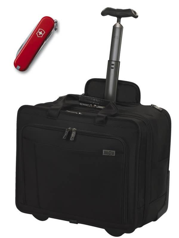 "Architecture 3.0 : Pompeii Mono Retrax : Expandable Wheeled 15.6"" / 40 cm Laptop Case - Black : Victorinox (Bonus Classic Pocket Knife)"