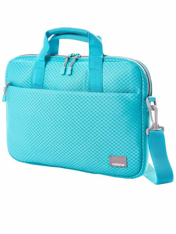 Biz Acc : Large Laptop Shuttle - Turquoise / Grey : American Tourister