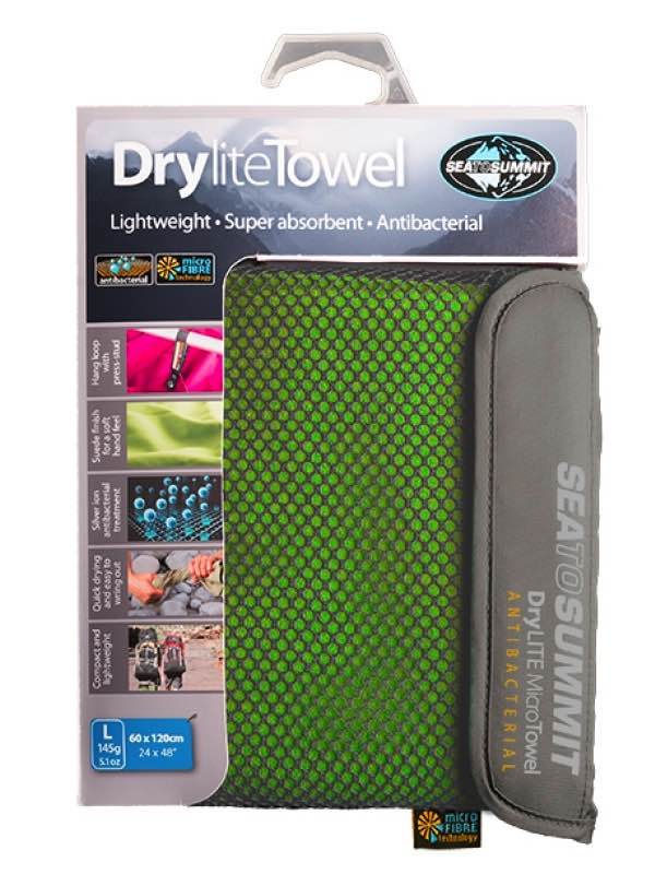 Drylite Towel Antibacterial : Large - Lime : Sea to Summit