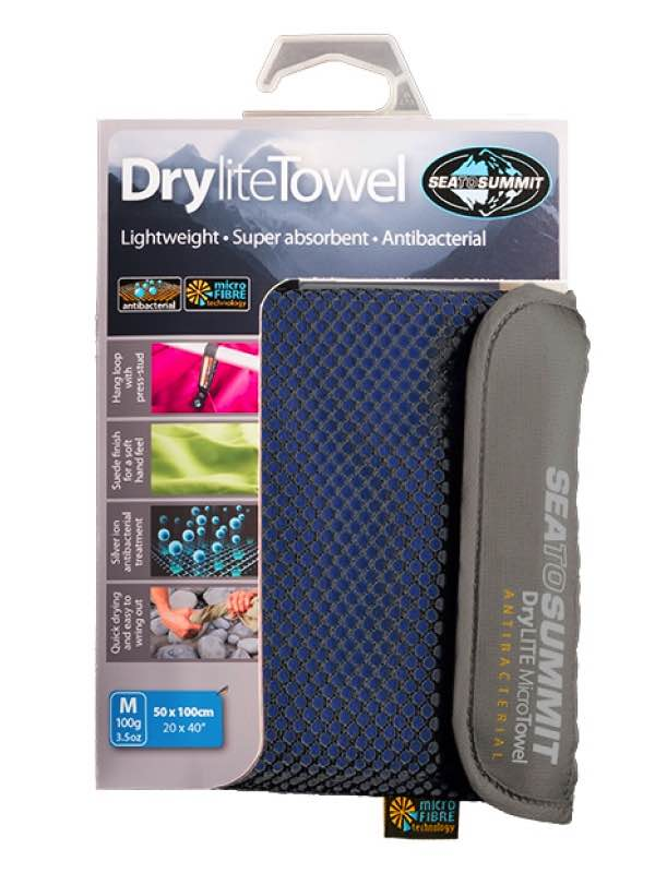 Drylite Towel Antibacterial : Medium - Cobalt : Sea to Summit