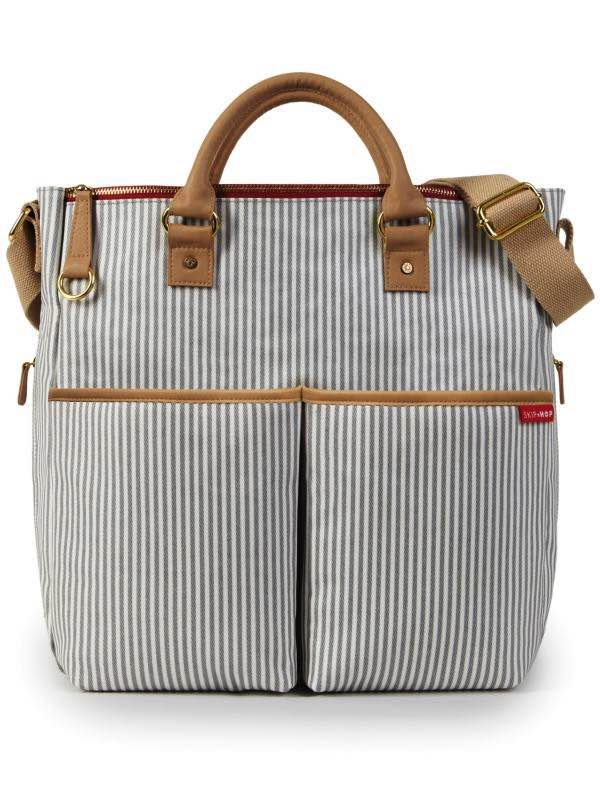Duo Deluxe Nappy Bag - Luxe French Stripe : SkipHop