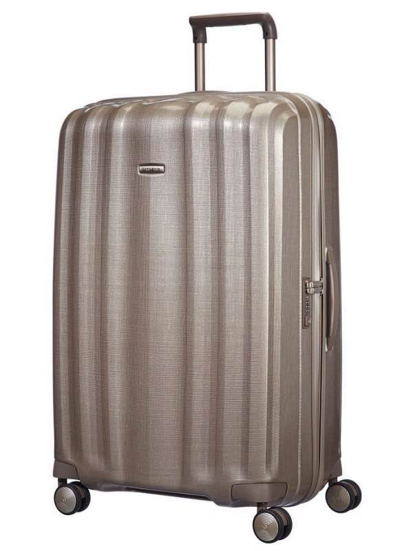 Lite-Cube : 82 cm Spinner Wheeled Upright - Ivory Gold : Samsonite