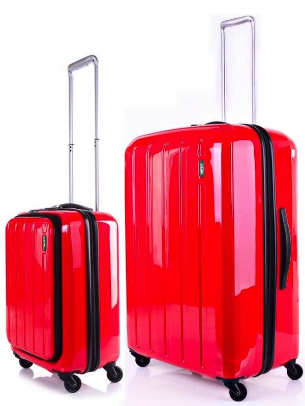Lucid - 4 Wheel 71cm Suitcase plus FREE 55cm Carry On - Red : Lojel