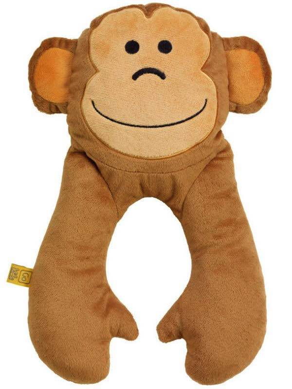 Monkey Flat Neck Pillow - Go Travel Kids