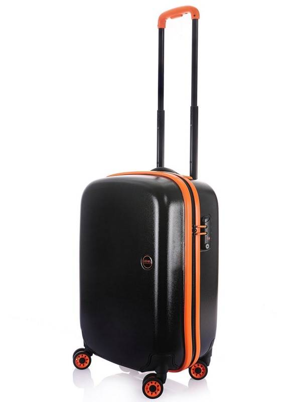 Nimbus : 55cm 4 Wheel Rainproof Carry-On : Black / Orange : Lojel