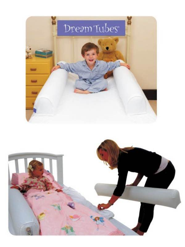 Portable Bed Guards : Dream Tube : Cotton Single Set 2x Inflatable Bumpers : Hippychick