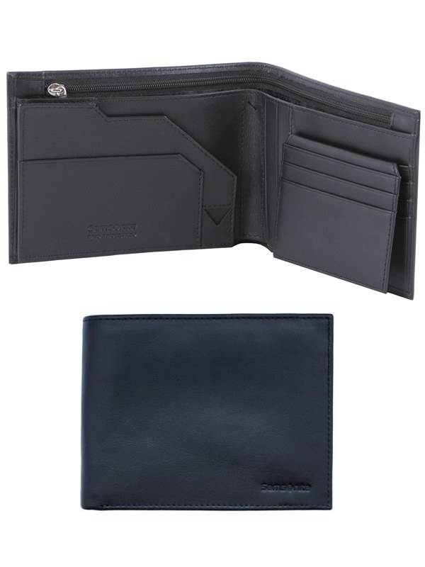 RFID Blocking Leather Wallets : Passport Travel Wallet - Black : Samsonite