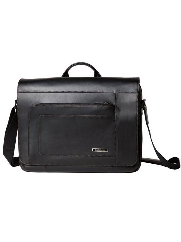 Savio Leather III : Messenger Bag - Black : Samsonite