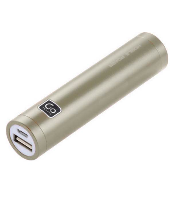 Single Power Bank - Battery Charger - Silver : Go Travel