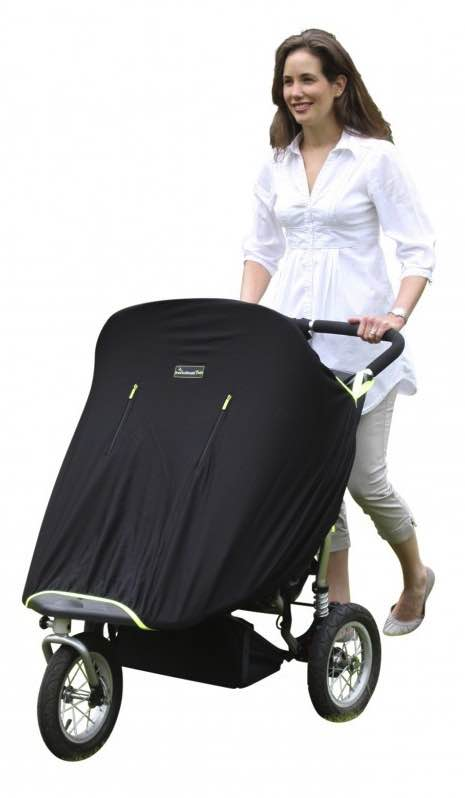 SnoozeShade : Twin Classic / Stroller Sun Cover - Black