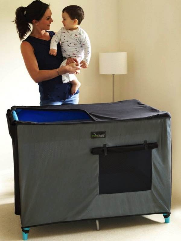 SnoozeShade for Travel Cots - Grey : SnoozeShade