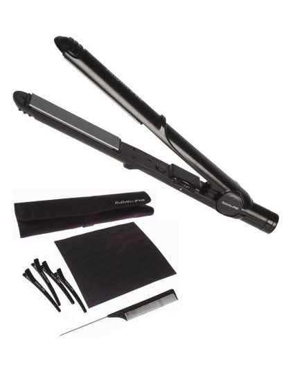 Travel Hair Straightener 25 cm and Styling Kit : Dual Voltage: BaByliss