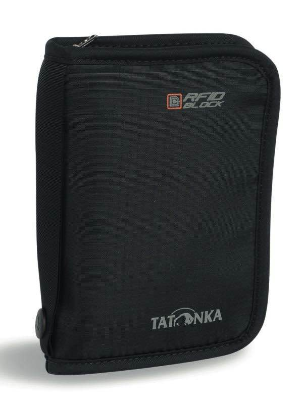 Travel Zip - Medium RFID Passport / Document Wallet - Black : Tatonka
