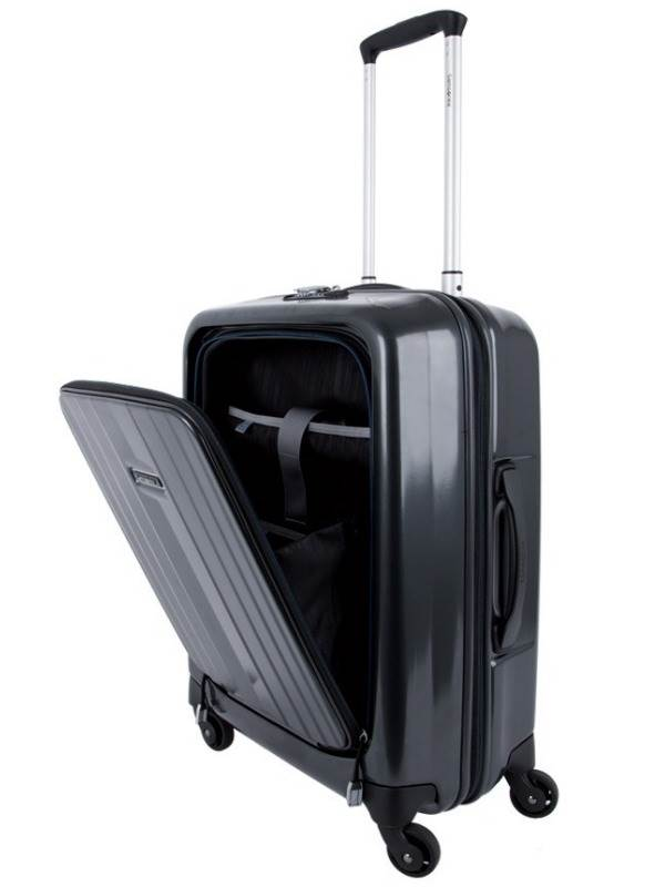 Ultimo : 55cm Spinner Dual-Access Carry-On - Black : Samsonite