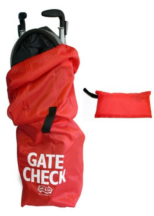 Umbrella Stroller Gate Check Bag - Red : JL Childress