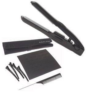 Travel Hair Straightener 15 cm : 8 Piece Styling Kit: Dual Voltage: BaByliss Pro Mighty Mini