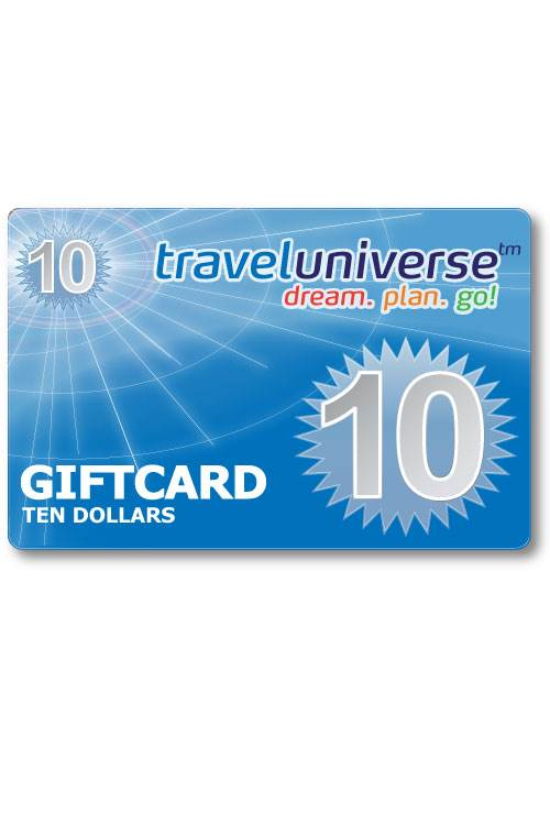 $10 Gift Voucher (Delivered free via Email) : Travel Universe