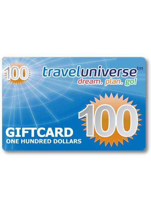 $100 Gift Voucher (Delivered free via Email) : Travel Universe