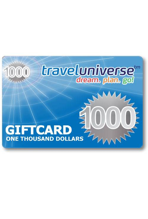 $1000 Gift Voucher (Delivered free via Email) : Travel Universe