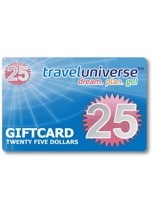 $25 Gift Voucher (Delivered free via Email) : Travel Universe