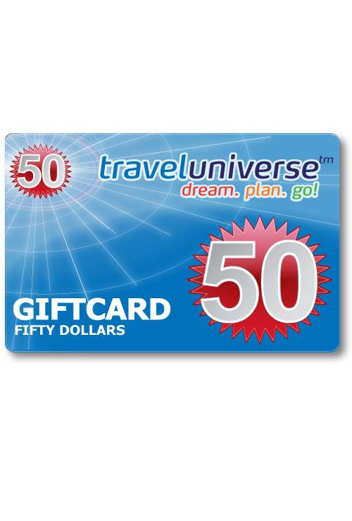 $50 Gift Voucher (Delivered free via Email) : Travel Universe