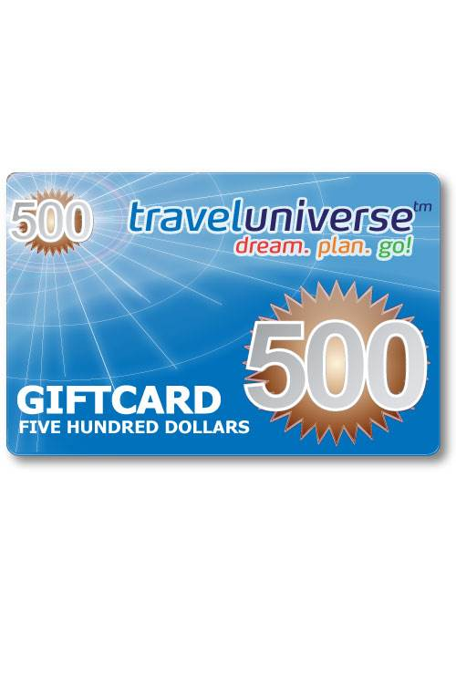 $500 Gift Voucher (Delivered free via Email) : Travel Universe