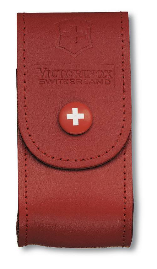 Victorinox Red Large Leather Sheath Pouch 5 8 Layers By