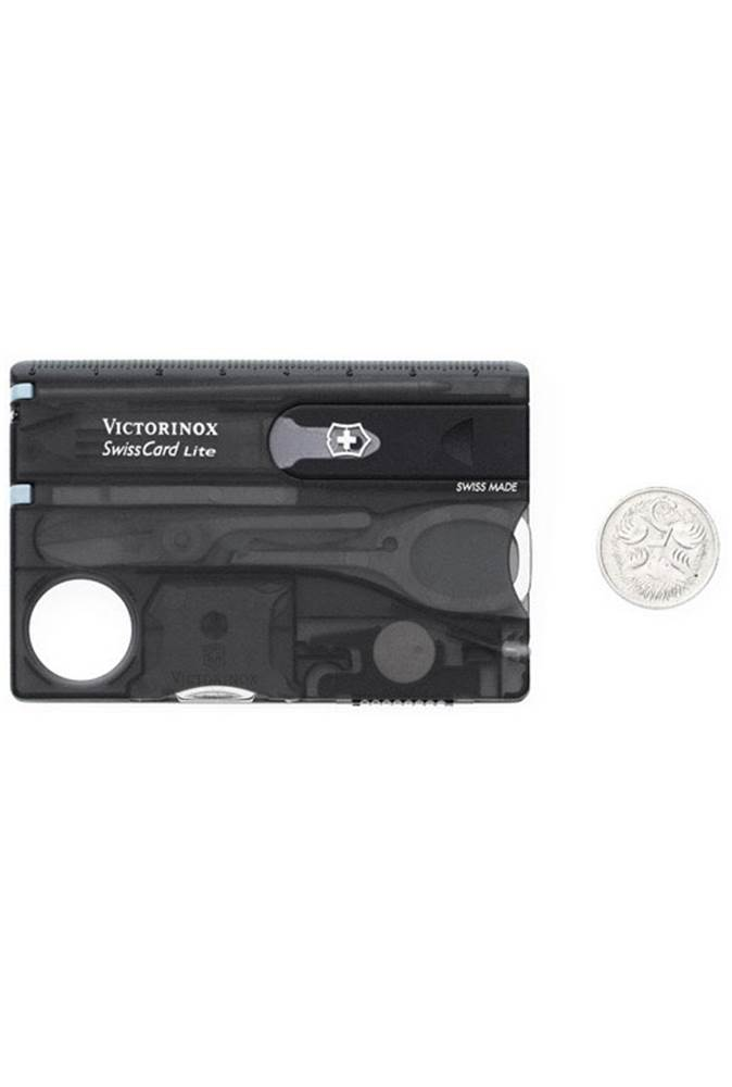 4933dedea9d ... Product Image  The Victorinox SwissCard Lite (here in Black) includes a  magnifying lens ...