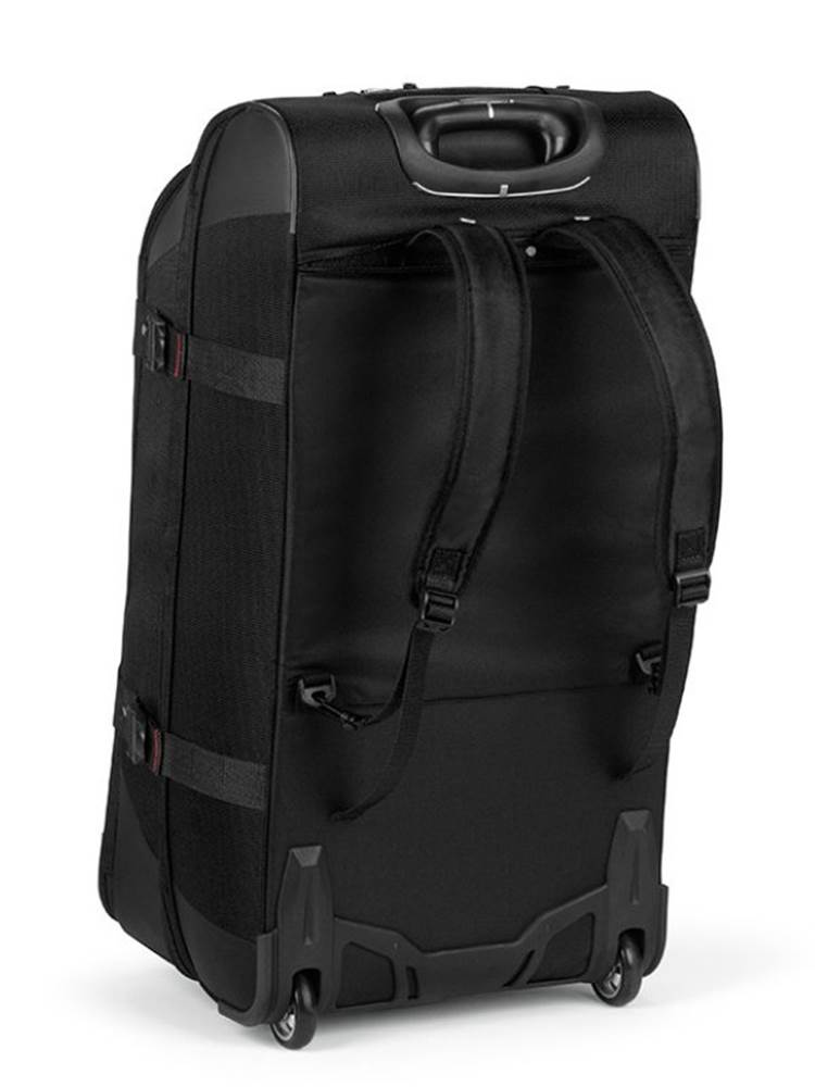 ... Hidden padded backpack straps are stored behind the zippered back panel  ... 5929dc44bdc