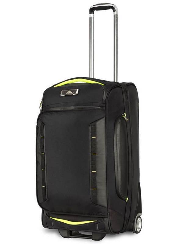 5bf5505cc973 AT8   66cm Wheeled Drop Bottom Upright Duffle (with Hidden Back Straps) -  Black