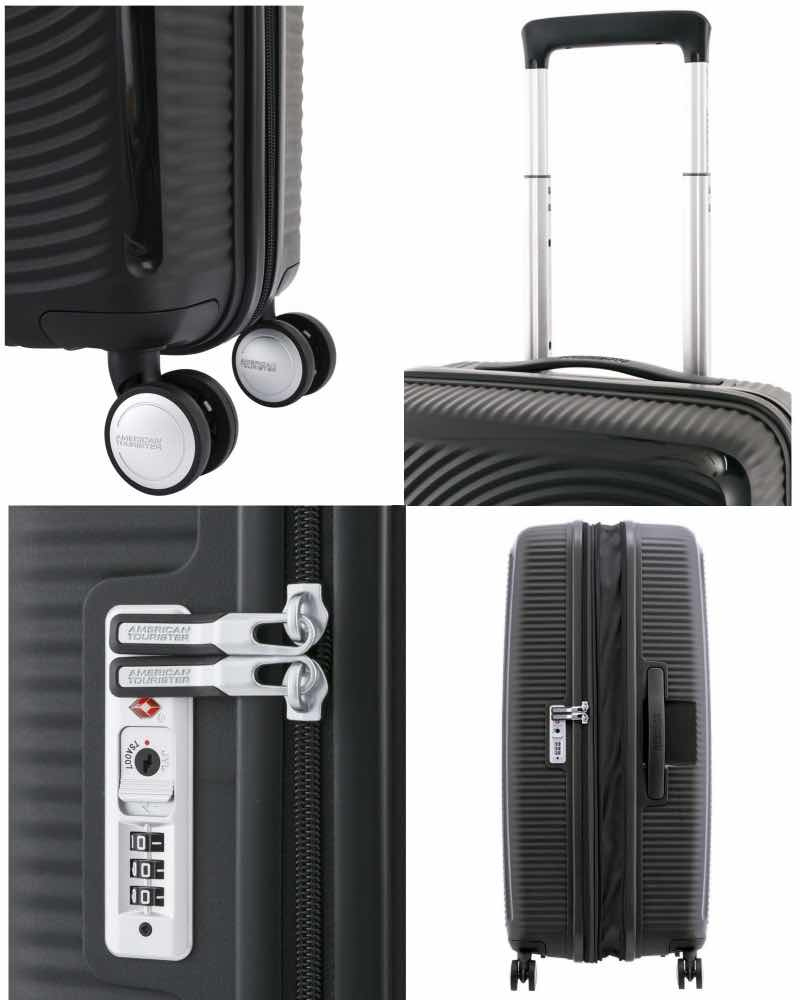 ... American Tourister   Curio - 55cm 4 Wheeled Expandable Spinner - Black  - 87999-1041 ... 58d22036ee